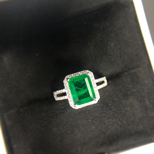 Image 4 - PANSYSEN Luxury Top Quality  Emerald Rings for Women Wedding Engagement Cocktail Ring 100% 925 Sterling Silver Fine Jewelry Gift