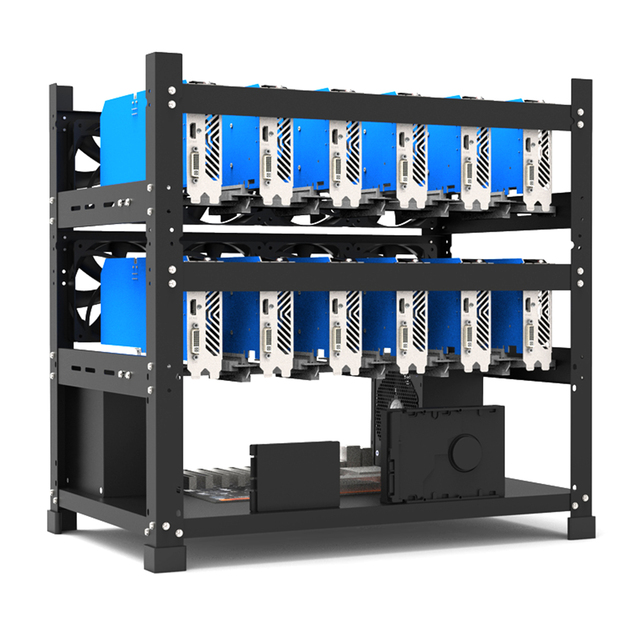 Open Mining Rig Frame for 12 GPU Mining Case Rack Motherboard Bracket ETH ETC ZEC BCH Ether Accessory Tool 3 Layers crypto miner 4