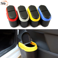 YOLU Car Trash Can Suspension Garbage Can Car Storage Box Car Double-open Trash Bin Car Interior Accessories Glove Compartment