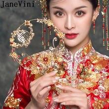Свадебный букет из старинных золотых кристаллов jaevini роскошные
