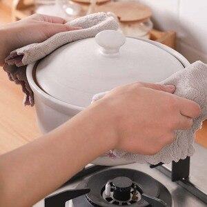 Супер Впитывающая ткань из микрофибры для кухонной посуды двухсторонняя губка для мытья тряпка высокоэффективное домашнее полотенце для уборки