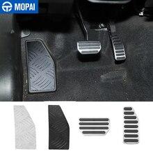 Mopai esquerda pé resto pedal para suzuki jimny no carro pedal de freio a gás decoração capa para suzuki jimny 2019 2020 acessórios