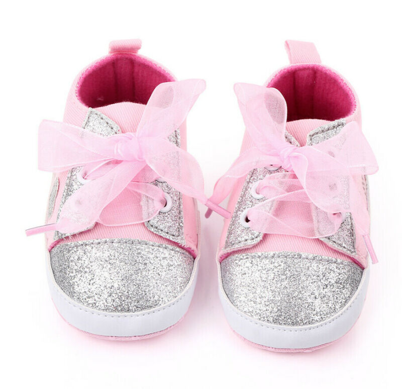 Baby Boys Girls Canvas Shoes Sneakers Soft Sole Crib Kids Newborn Infant Toddler
