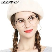 Seemfly Glasses Frames Metal Half Frame Eyebrow Women Men Ultralight Optical Spectacles Myopia Eyeglasses Eyewear Oculos De Grau