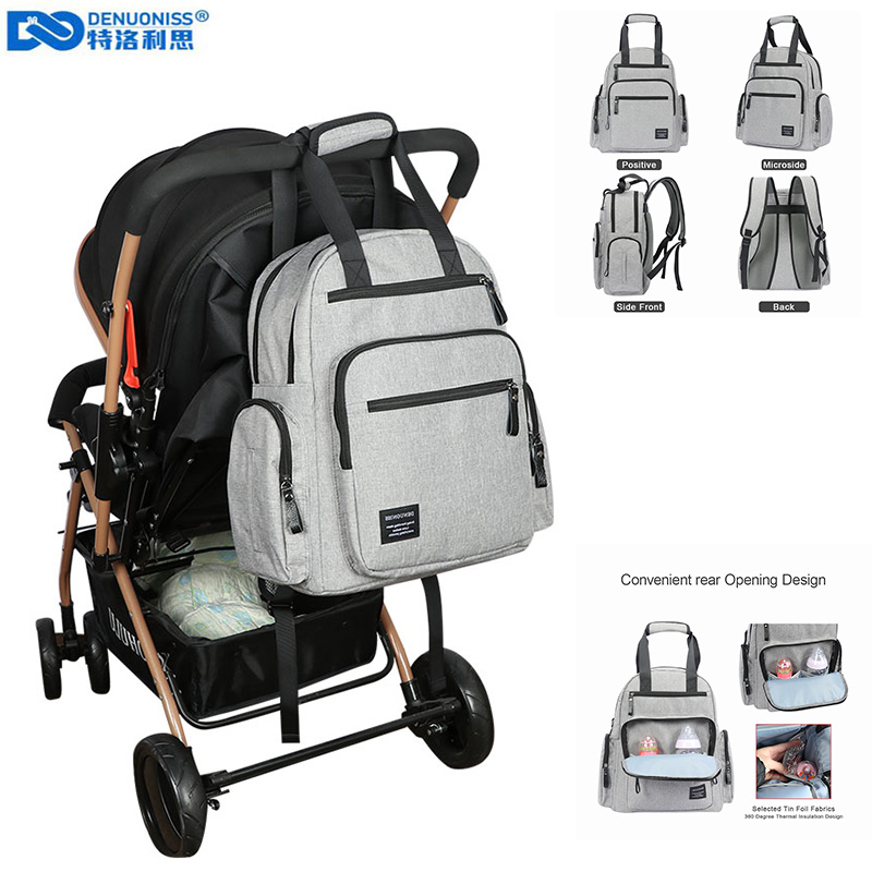 DENUONISS Brand Nappy Backpack Bag Mummy Large Capacity Stroller Bag Mom Baby Waterproof Outdoor Travel Diaper Bags