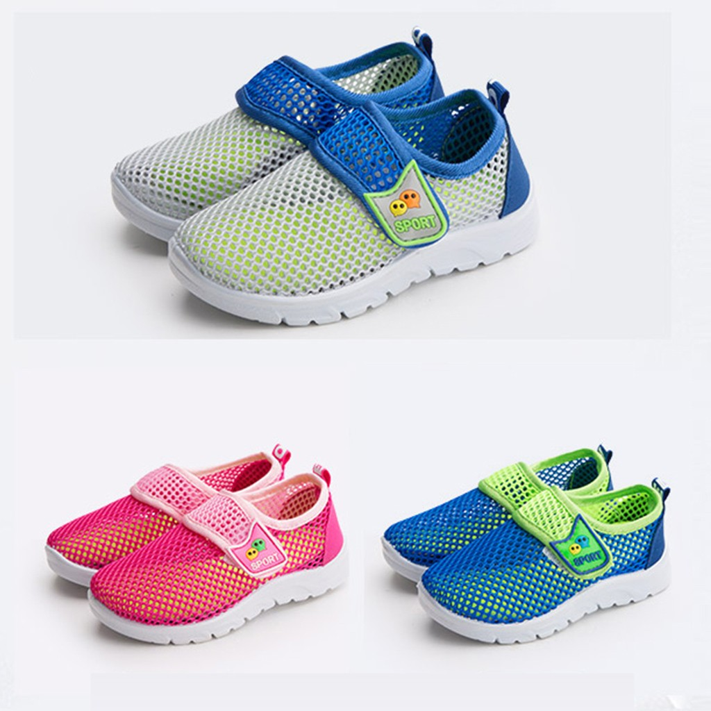 2019 Kids For Children Baby Casual Infant Kids Baby Boys Girls Mesh Breathable Sport Run Sneakers Casual Shoes  Cartoon Gamin