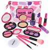 12 Pcs Girls Cosmetic Toys Eyeshadow Lipstick Blush Nail Polish Makeup Toy Cosmetic Bag Simulation Play House Toy Birthday Gift discount