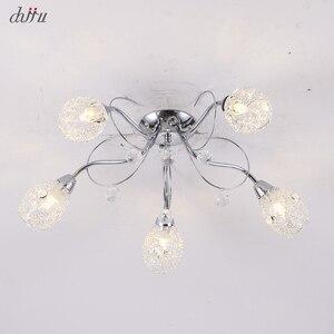 Image 3 - חדש led נברשת לסלון חדר שינה בית נברשת 25W 5 E14 הנורה Led hanglight זוהר קריסטל נברשות מנורה