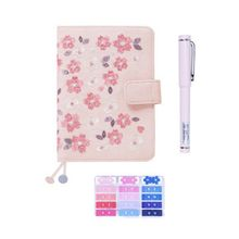 Cherry Blossoms Embroidery Pink Notebook A6 Diary Book Planner Journal Agenda