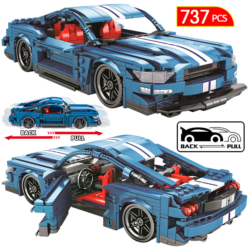728PCS City Diy Pull Back Mechanical F1 Racing Car Building Blocks For Technic Car Bricks Toys For Children Boy