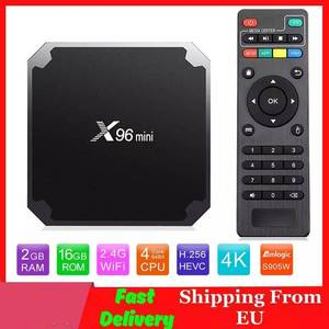 Image 1 - X96 mini Android TV BOX 2G/16G Amlogic S905W 1G/8G QuadCore 2.4G wiFi X96mini Smart set top box Android 7.1 4K Media Player