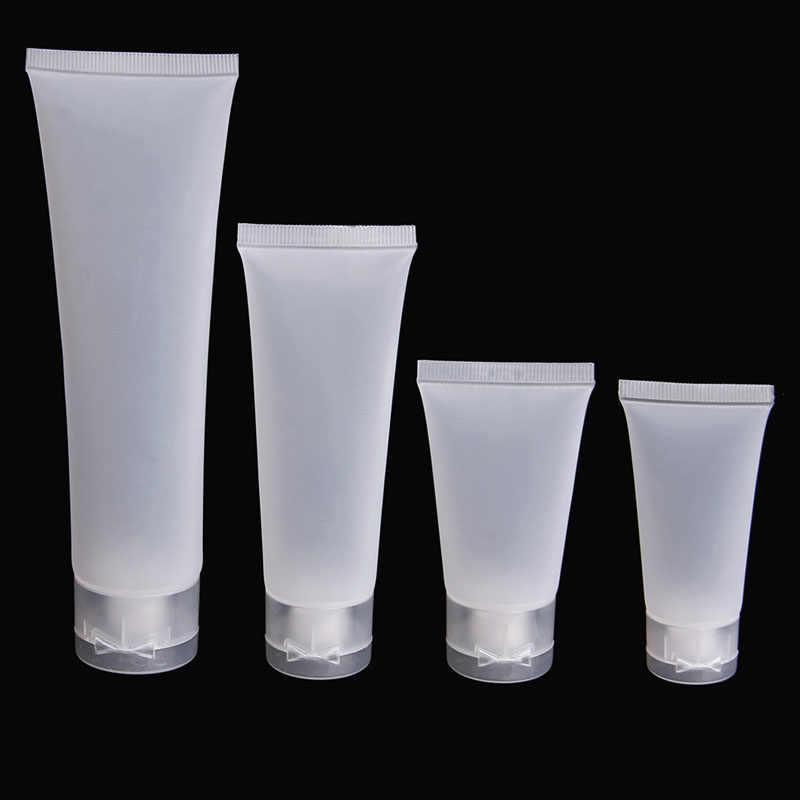 20ml ml 50 30ml 100ml Vazio Tubos de Viagem Portátil 1 Espremer Garrafas De Plástico Embalagens de Cosméticos Creme Loção pc transparente/Branco
