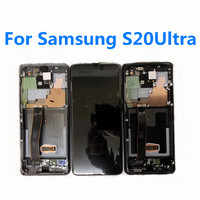 Original AMOLED LCD For Samsung S20 Ultra S20 Screen With Frame Replacement Display For Samsung S20 Plus G985 LCD Screen Display