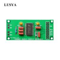 Lusya cs8414 placa receptor digital coaxial  para i2s  saída de sinal 96khz  para receber sinal coaxial de cd giratório t1079