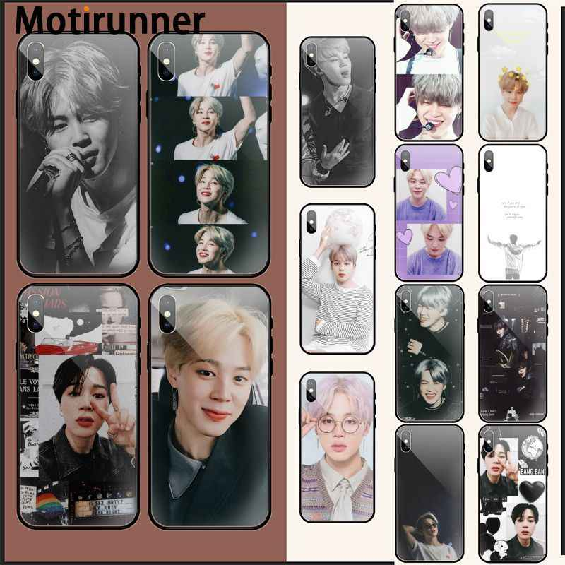 Motirunner Kpop Jimin Hitam TPU Soft Phone Case Cover UNTUK iPhone 11 Pro XS MAX 8 7 6 6S plus X 5 5S SE XR Case