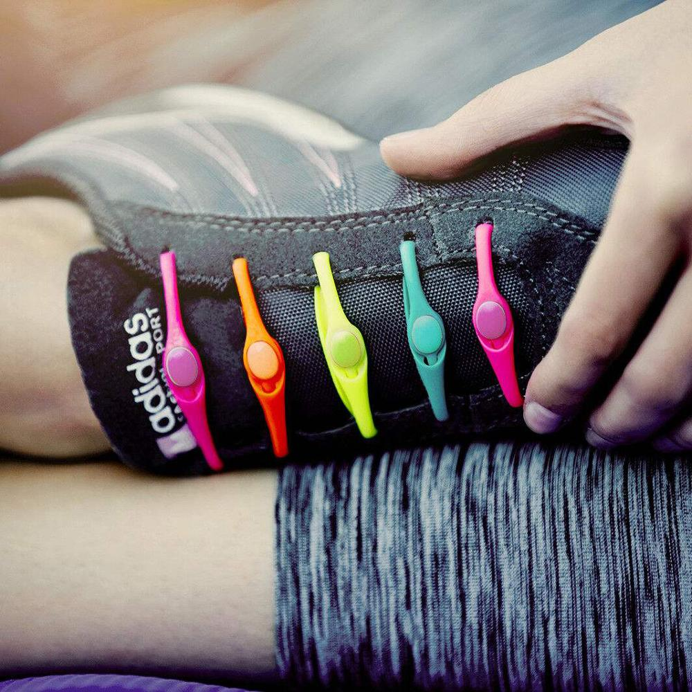 12Pc/Set VING New Unisex Adult Athletic Running No Tie Shoelaces Elastic Silicone Shoelaces All Sneakers Fit Strap Shoe Lace