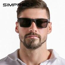 Мужские поляризованные солнцезащитные очки simprect uv400 квадратные