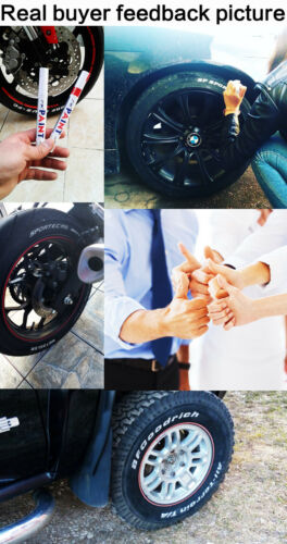 Image 5 - 1pc White Permanent Oil Based Paint Pen Car Bike Tyre Tire Metal Marker Waterproof Non Fading for Tire Paint Pen 11 COLORS-in Car Stickers from Automobiles & Motorcycles