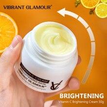 Canlı GLAMOUR C vitamini nemlendirici krem VC beyazlatma parlatıcı Anti kırışıklık Anti-Aging onarım solmaya çiller yüz kremi 50g