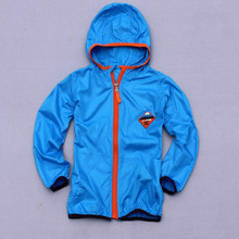 BBD Kids Coat New Children Use Uv Light Hoodie Full Solid Thin Fashion Jacket Infant 5-6 Years Clothes