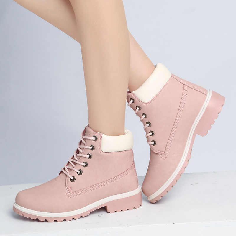 2019 ใหม่รองเท้าผู้หญิง Winter BOOTS Martin BOOTS Plush WARM รองเท้าผู้หญิงฤดูหนาวหญิงรองเท้าผู้หญิงรองเท้า PLUS ขนาด 42