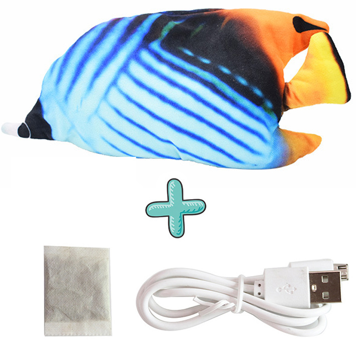 Cat USB Charger Toy Fish Interactive Electric floppy Fish Cat toy Realistic Pet Cats Chew Bite Toys Pet Supplies Cats dog toy 9