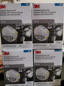 8210-Ffp2 Anti-fog Haze Dust protective face Mask free by DHL FEDEX