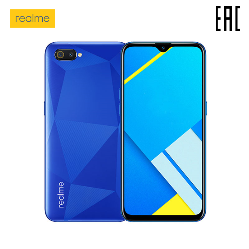 Smartphone realme C2 EN 16 GB, 4000 mAh battery, the official Russian warranty produced by factories OPPO