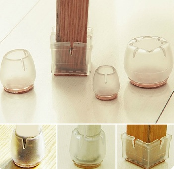 Chair feet pad round square Clear table foot cover PVC soft cap,protector cover furniture table desk wood floor scratch proof
