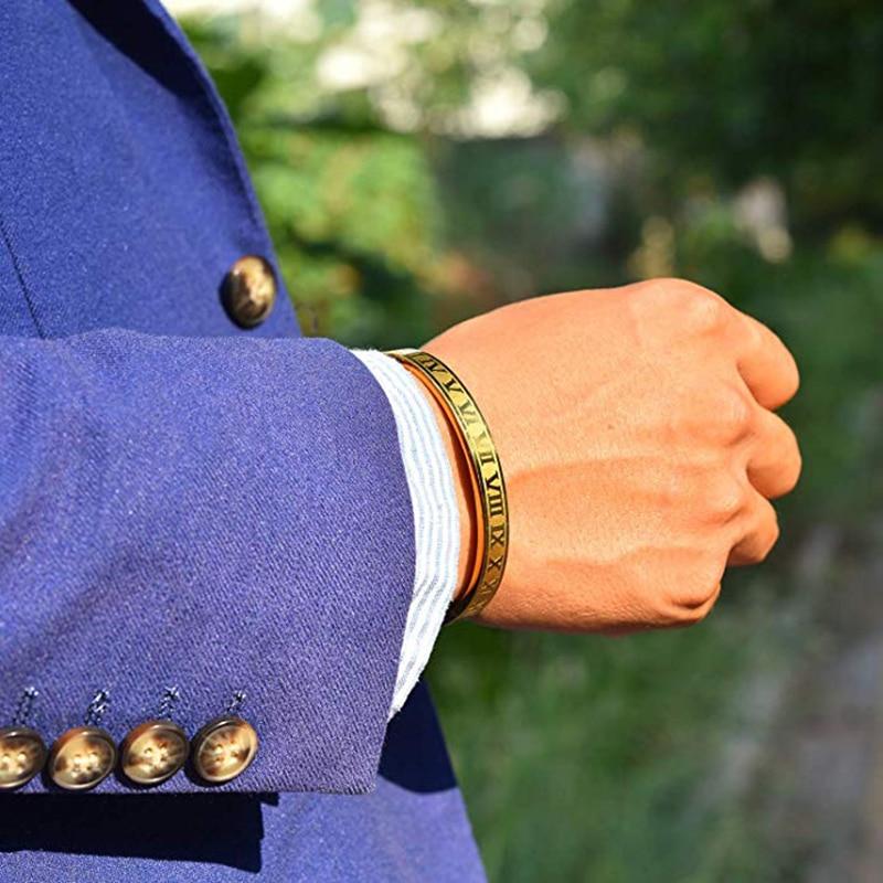 Mcllroy titânio aço pulseira manguito aço inoxidável pulseiras & bangles ouro feminino homem/amor/abertura bangles novo estilo venda quente