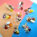 A box of a variety of cute color mixed shells aquarium nautical decoration natural conch children's toy photography props