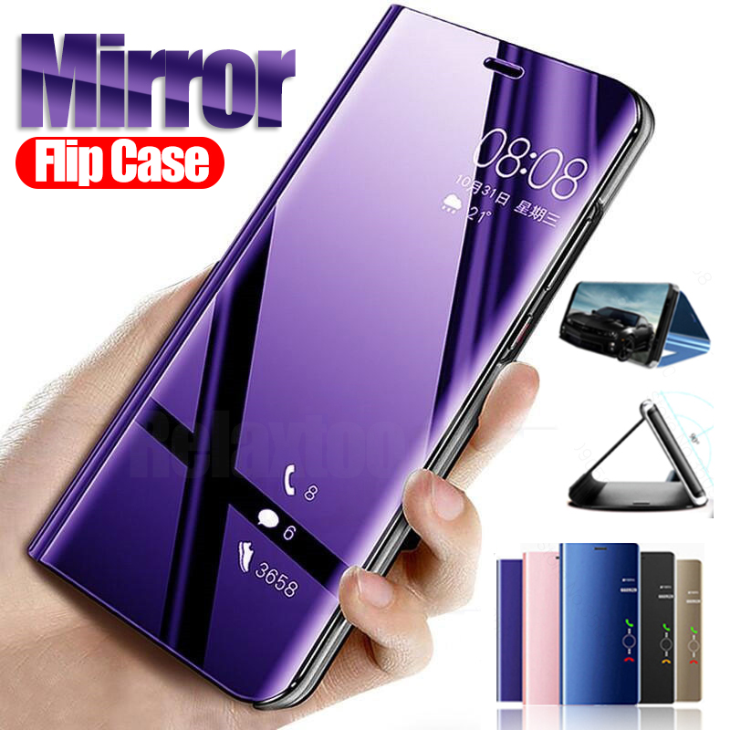 <font><b>Mirror</b></font> <font><b>Case</b></font> On For <font><b>samsung</b></font> galaxy note 10 pro <font><b>s10</b></font> 5G s9 s8 plus s10E s6 s7 Edge A10 A20 A20E A30 A40 A50 A70 standing <font><b>Flip</b></font> Cover image