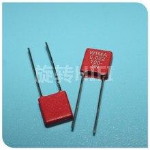20 шт., красные наушники WIMA MKS2 22NF 100 в P5MM 0,022 мкФ 223/100V аудио 223/22n 0,022 мкФ/100V
