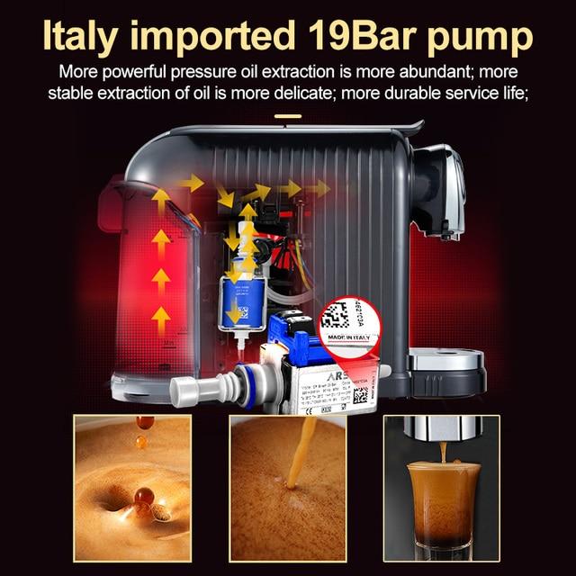 HiBREW ST-503D Espresso Machine 15Bar Pump System Coffee Makers 850W Coffee Machines  Capsule espresso machine 220-50hz 2