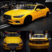 152CM*5M Yellow Car Stickers Vinyl Wrap Film Sticker Decal Bubble Free Car Wrapping Films