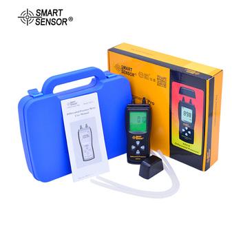 Inteligentny czujnik AS510 powietrza LCD manometr ciśnienia manometr Mini różnicy ciśnień miernik cyfrowy manometr 0 ~ 100hPa tanie i dobre opinie SMART SENSOR 1 9 Cali i Pod DIGITAL 50-99 PSI 0~100hPa 0~45 15in H2O 0 01hPa 0 01inH2O 0 5 sec 3*1 5V AAA battery (not include)