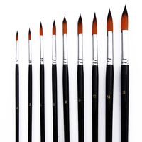 9 Pcs Art Paint Brush Set Round Pointed Tip Brushes for Acrylic Watercolor Oil Painting Store