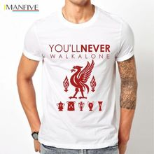New Liverpool  T Shirt You Will Never Walk Alone Size S-XXXL Short  Casual  Cotton  funny t shirts lynnie lang now i see a walk through life s journey but never alone