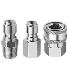 Washer-Adapter-Kit High-Pressure for 4500-7500PSI Nozzles Stainless-Steel 3-Piece NPT3/8