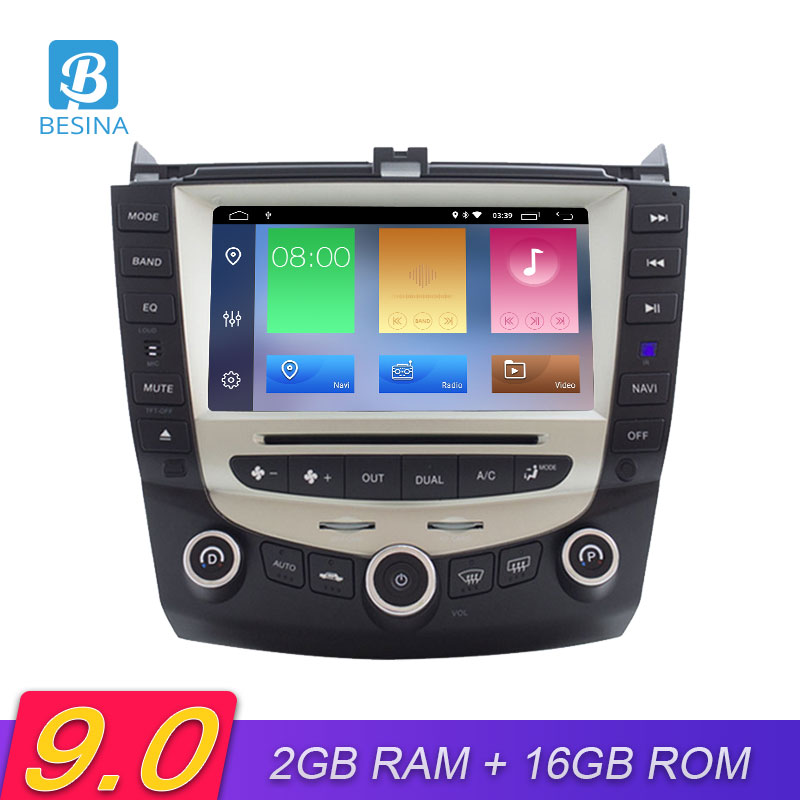 Besina Android 9.0 Car DVD Player For <font><b>HONDA</b></font> <font><b>Accord</b></font> 07 <font><b>2003</b></font>-2007 Multimedia GPS Navigation <font><b>Stereo</b></font> 2 Din Car Radio WIFI Auto Audio image