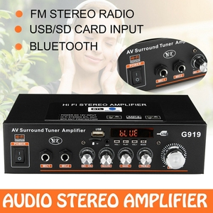 Image 1 - 600W 110V Amplifier HIFI bluetooth Stereo Power 2 CH AMP Audio Player Car Home Car Electronics Car Audio Amplifiers
