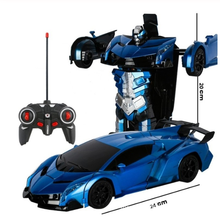 2 to 1 remote control car driving sports car driving deformation robot lol model remote control car RC combat Christmas toy gift