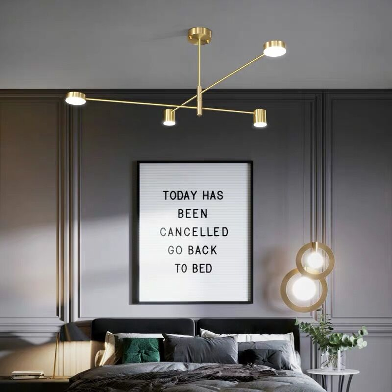 Luxo moderno pingente de ouro luzes led nordic criativo loft ferro pendurado lâmpada para restaurante sala estar quarto barra interior deco - 2