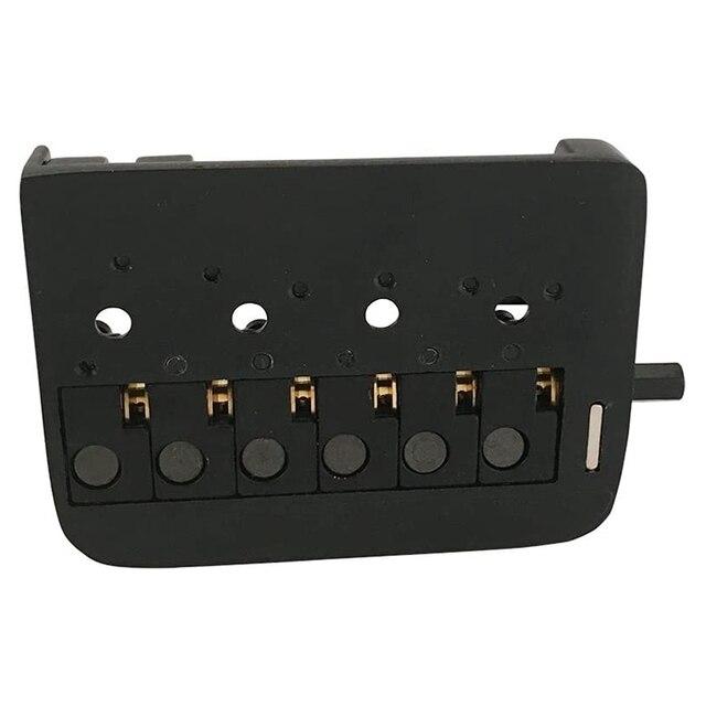 Noir fixe 6 cordes guitare sans tête pont cordier rouleau selle guitare sans tête pont ensemble complet