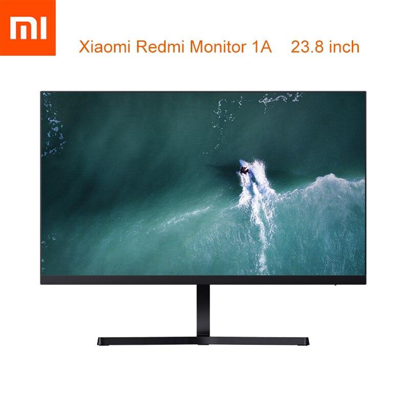 Xiaomi Redmi Monitor 1A 23.8 cala IPS szerokokątny twardy ekran 7.3mm Slim Body niskie niebieskie światło wygodna ochrona oczu