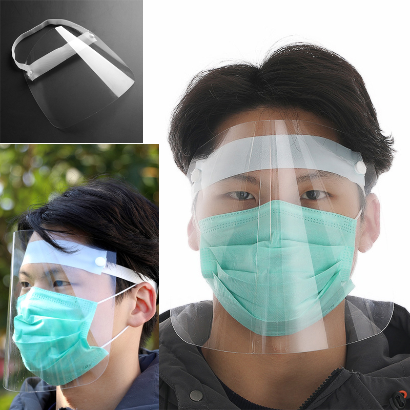 Safety Faceshield Transparent Full Face Cover Protective Film Tool Anti-fog Premium PVC Material Face Shield