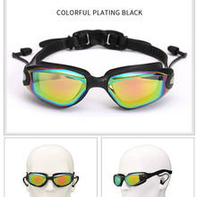 Swimming Goggles Earplugs Nose-Clip Professional Silicone Waterproof with Electroplate
