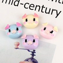 DECOCASE 30pcs Colorful Cute Pig Slime Charms Beads Headwear Flatback Crafts Ornaments Decoration Phone Case DIY Accessories