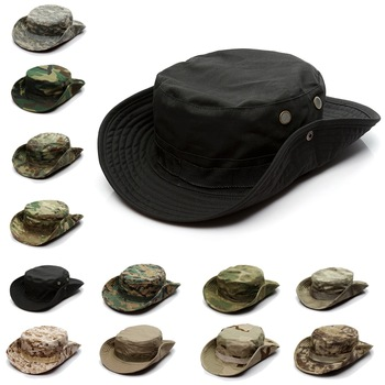 Camouflage Tactical Cap Military Boonie Hat US Army Caps Camo Men Outdoor Sports Sun Bucket Cap Fishing Hiking Hunting Hats 60CM 1