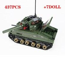 軍事シャーマン M4 タンク米軍兵士フィギュアビルディングブロック軍事 WW2 兵士ヘルメット武器レンガ部品ブロックおもちゃ
